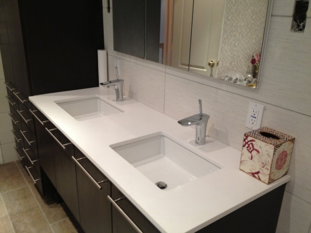 Double Bathroom Vanity Replacement Fairfield County, CT.