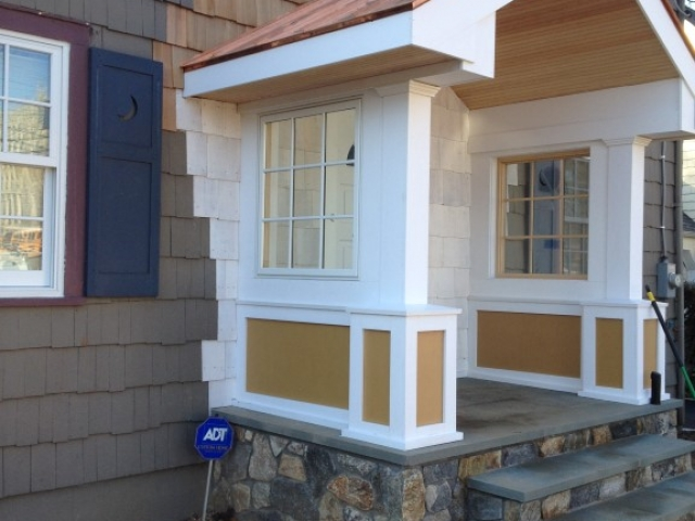 Custom Portico and Front Porch Construction Fairfield County CT.