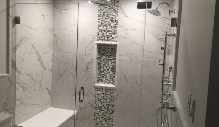 Custom Walk-in Shower Construction or Pre-fabricated Walk-in Shower Installation.